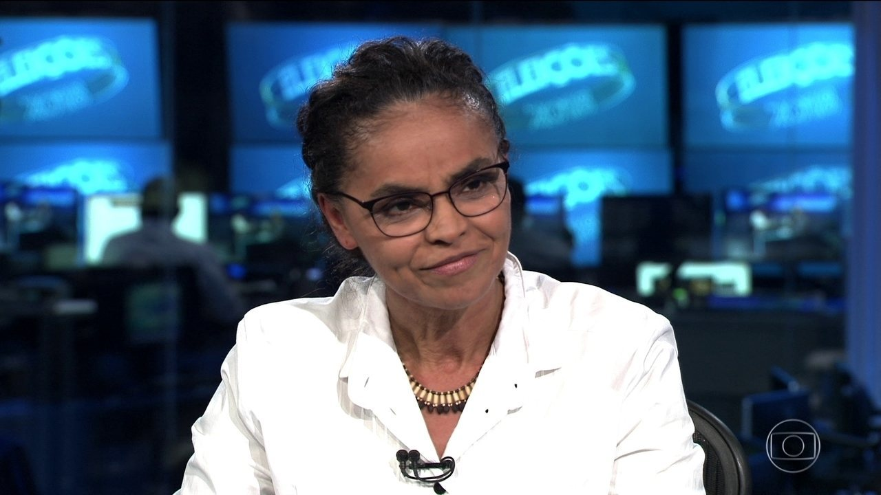 Marina Silva (Rede) é entrevistada no Jornal Nacional