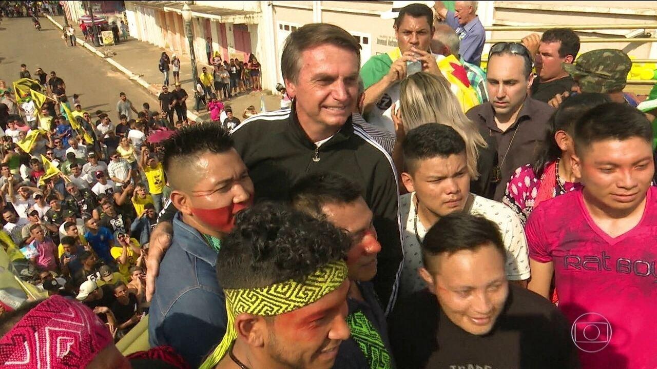 Candidato do PSL, Jair Bolsonaro, faz campanha no Acre