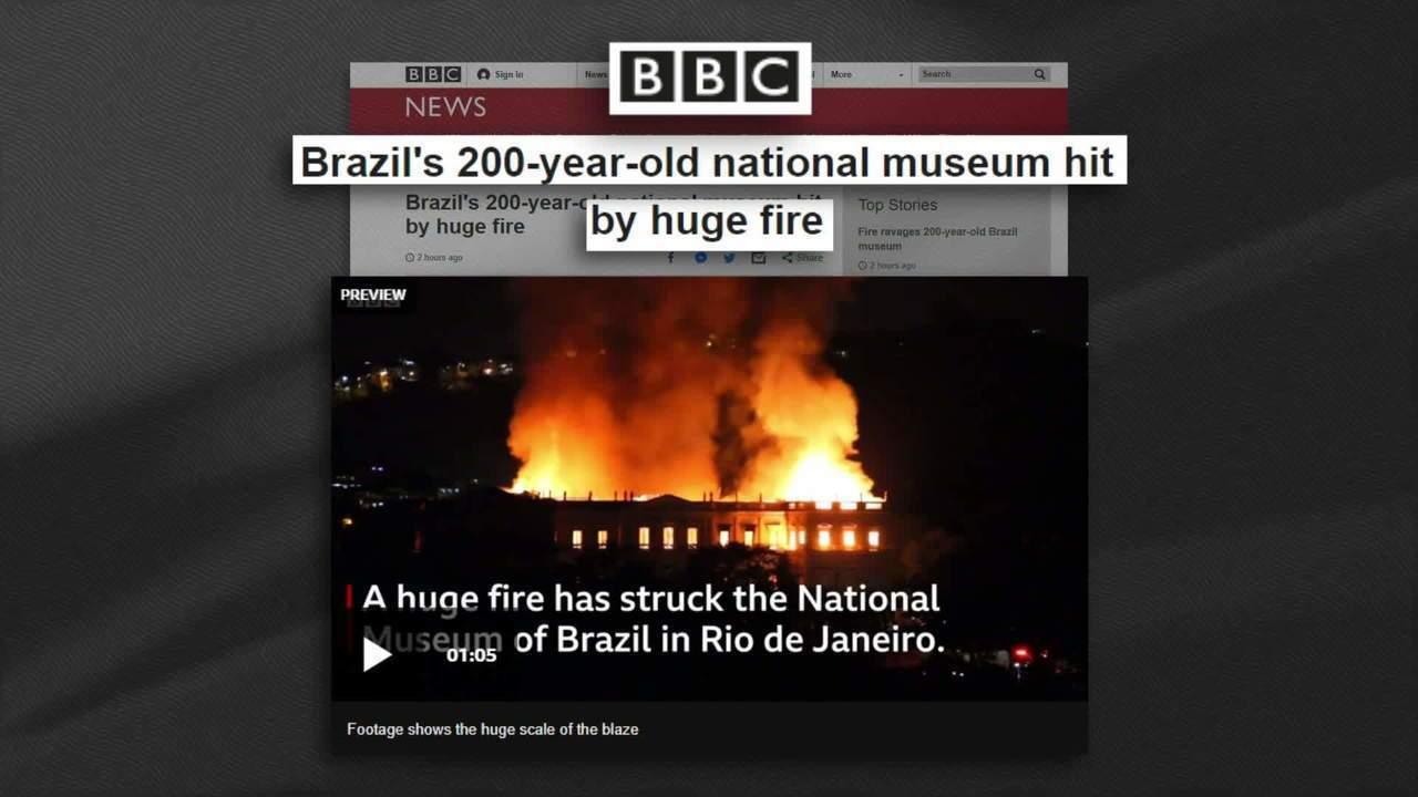 Destruição de acervo do Museu Nacional é destaque em jornais europeus