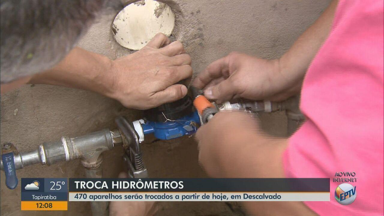 Começa nesta segunda-feira (3), a troca de hidrômetros em Descalvado
