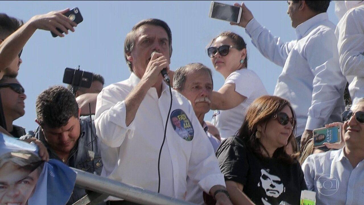 Candidato do PSL, Jair Bolsonaro faz campanha em Ceilândia e Taguatinga