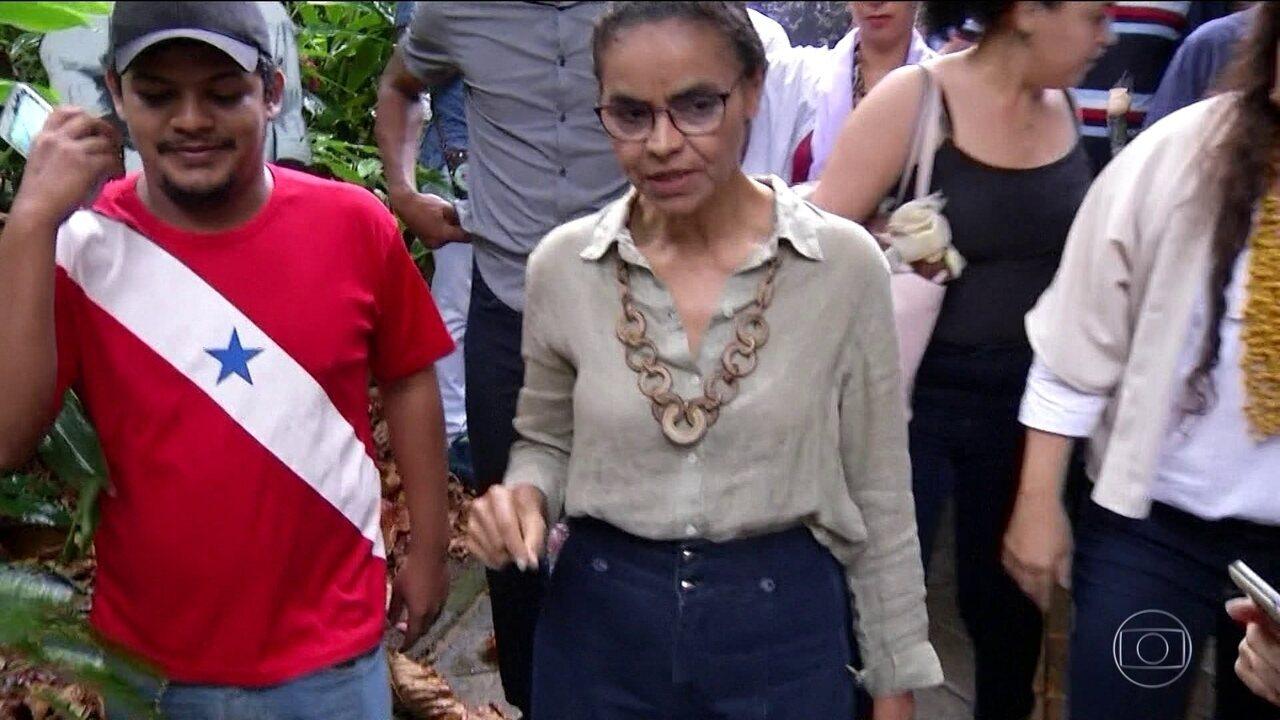 Candidata da Rede, Marina Silva faz campanha em Belém