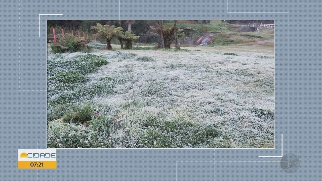 Monte Verde registra geada durante a madrugada