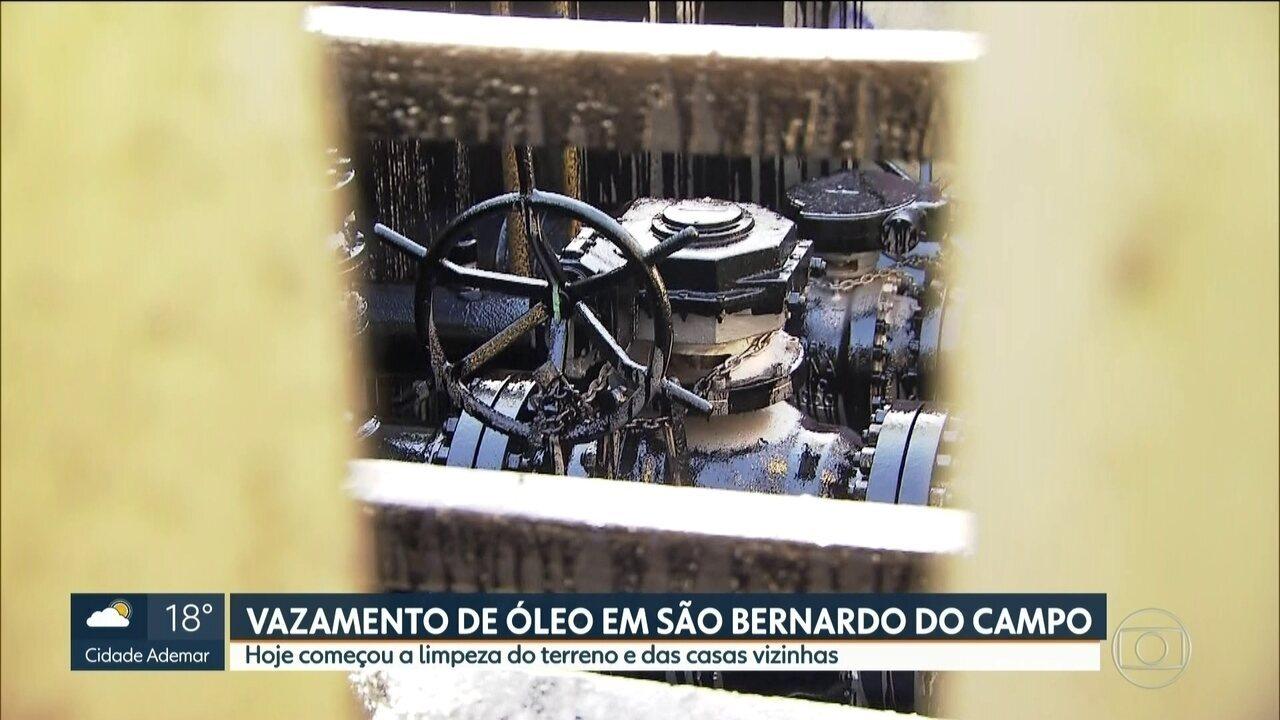 Suspeita de furto de combustível provoca vazamento de óleo em São Bernardo do Campo