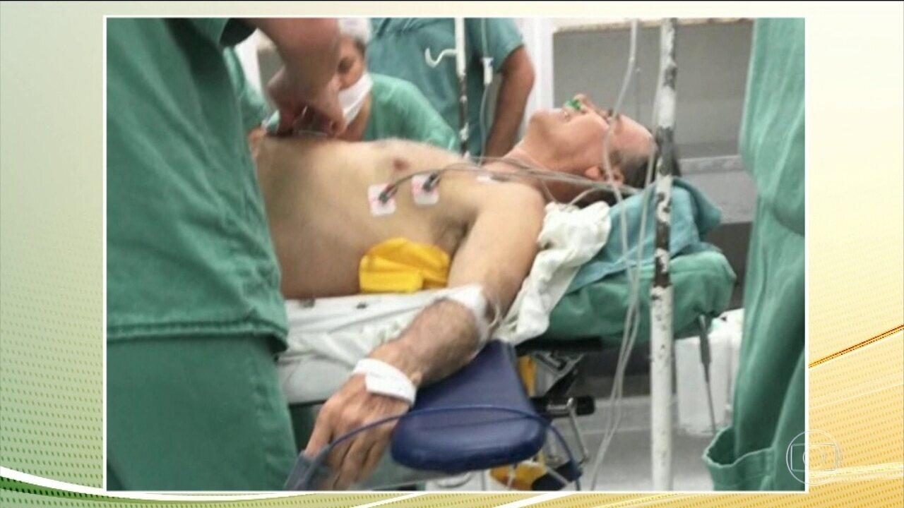Jair Bolsonaro chegou ao hospital em estado crítico