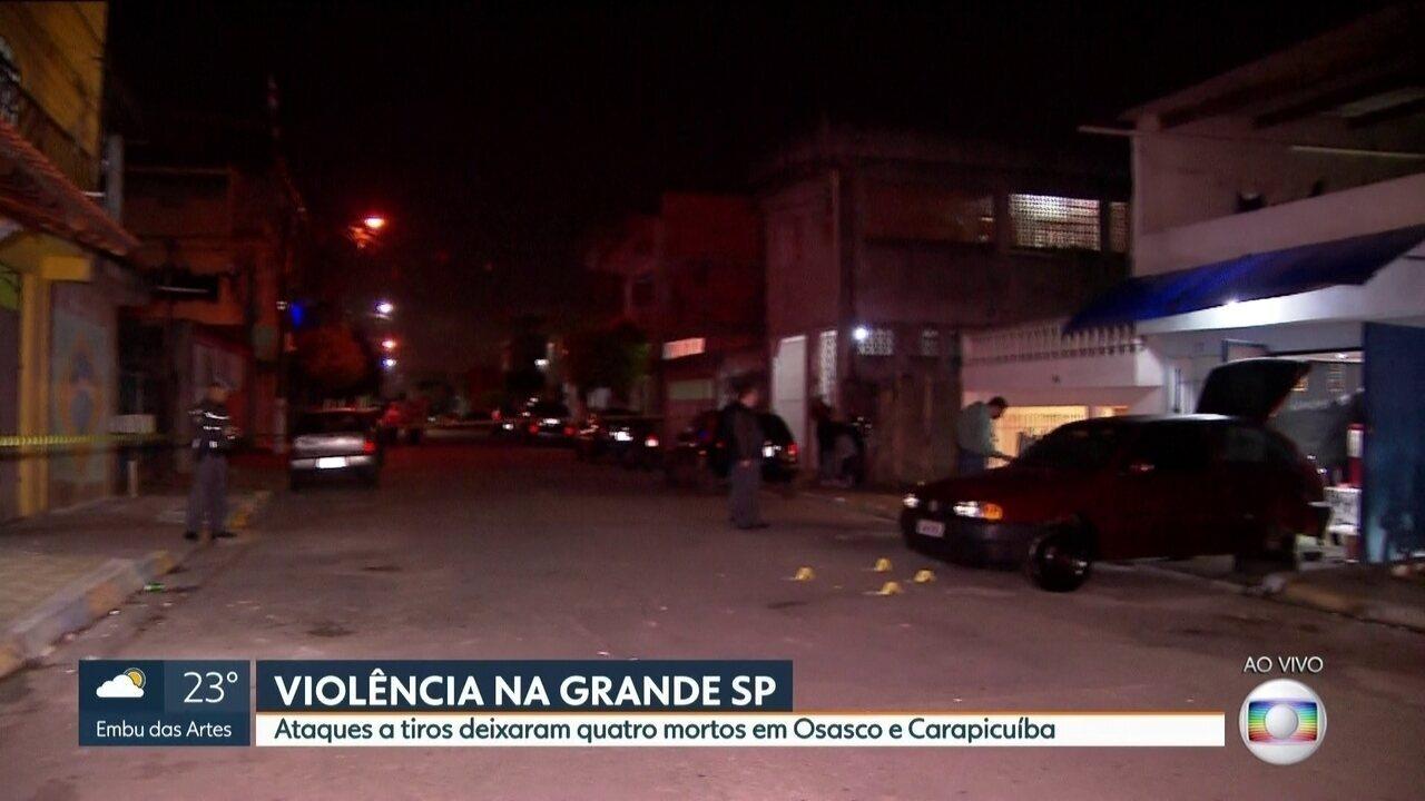 Ataques a tiros deixam quatro mortos em Osasco e Carapicuíba