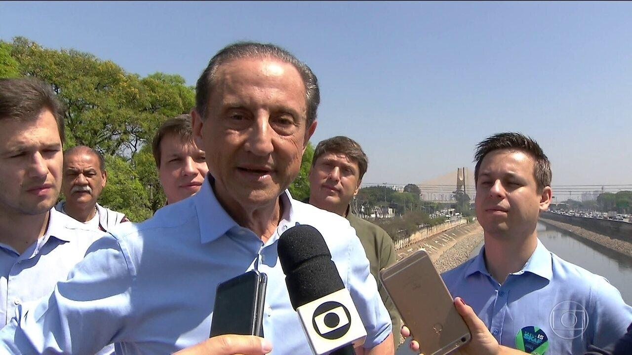 Paulo Skaf faz campanha pelo entorno do rio Tietê neste sábado (08)