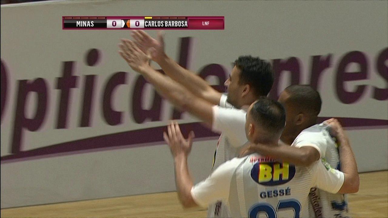 Os gols de Minas 5 x 3 Carlos Barbosa pela Liga Nacional de Futsal 8ac5190f6306a