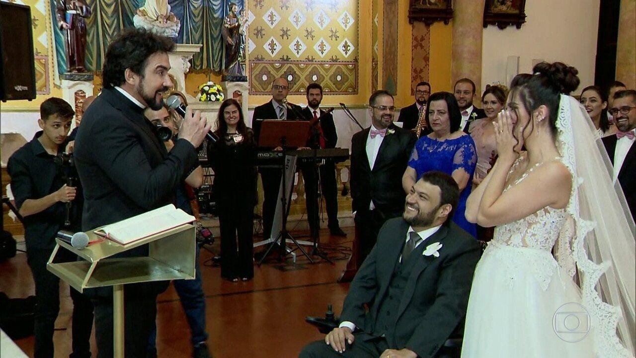Fantástico Padre Fábio De Melo Surpreende Noiva Em Casamento Que