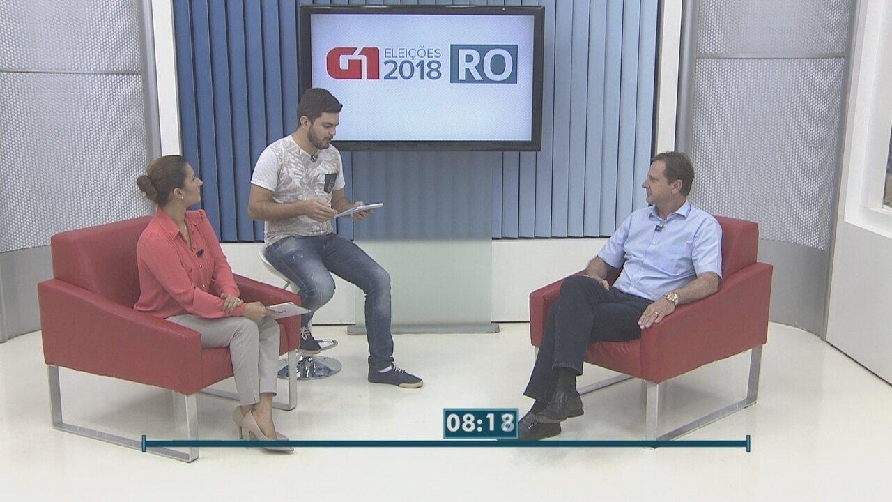 Confira a entrevista com o candidato ao governo de RO, Acir Gurgacz, no G1 RO