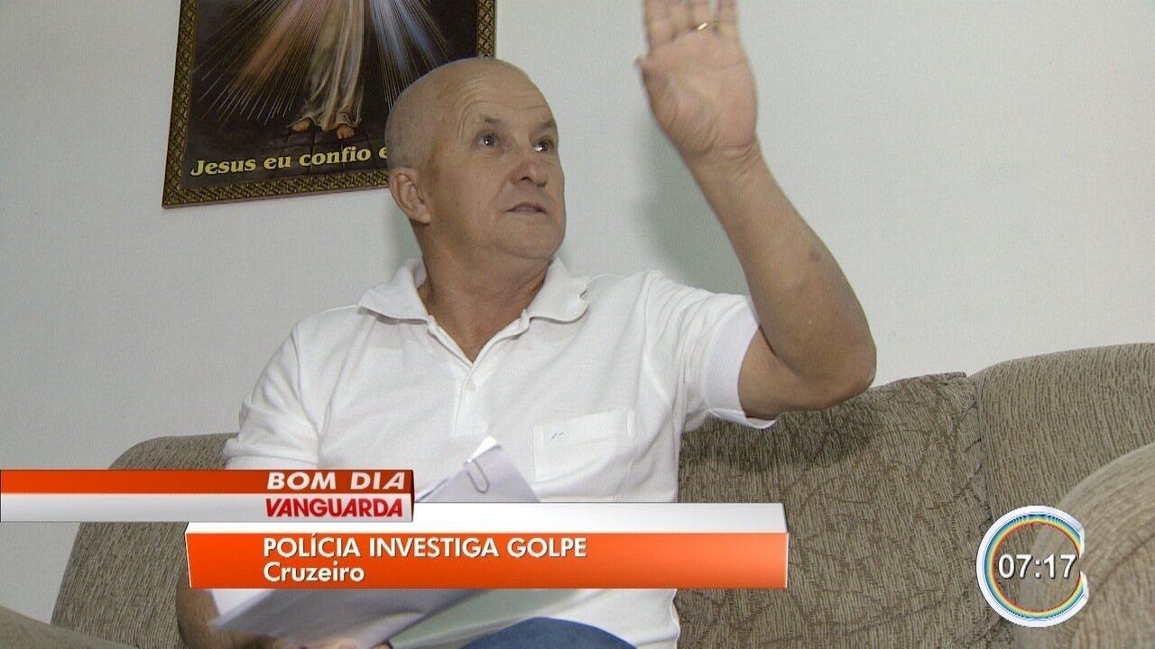 Idoso é vítima de golpe e perde R$ 29 mil em Cruzeiro