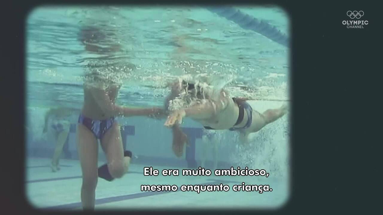 Após perder a visão, espanhol Enhamed Enhamed quebra recordes na natação