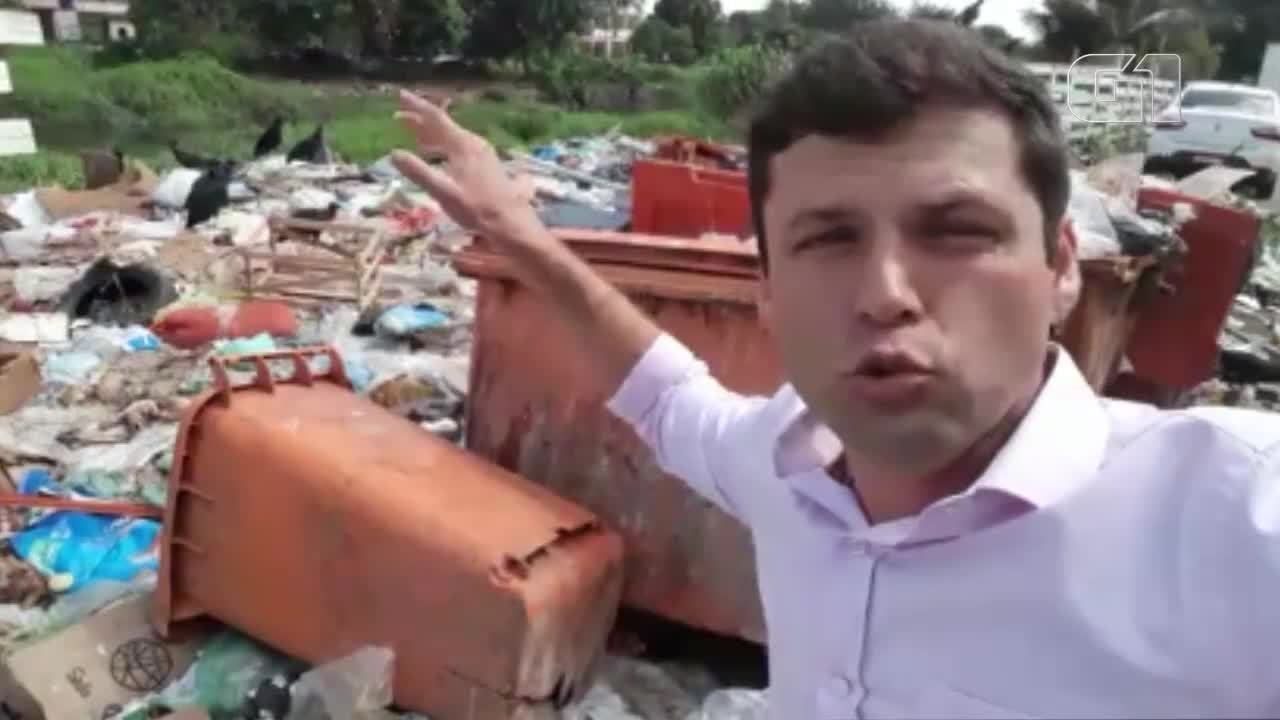 Descarte de lixo irregular acupa vias em Belém
