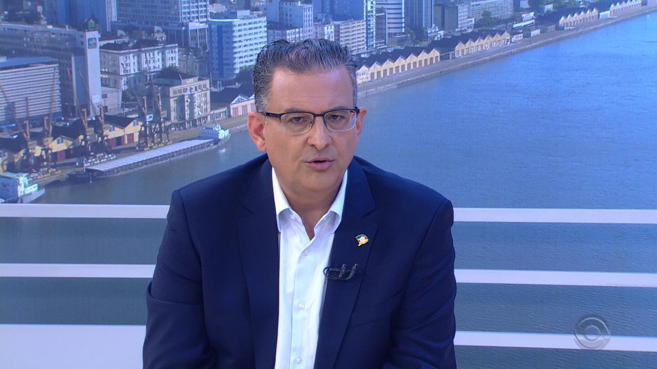 Jairo Jorge, candidato ao governo do RS, é entrevistado no Jornal do Almoço