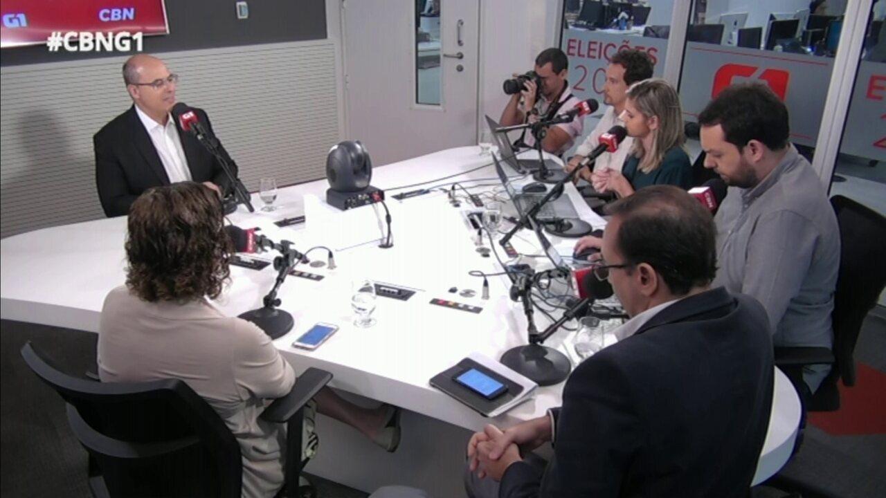 Em entrevista ao G1 e à CBN, durante o 'pinga-fogo', Witzel disse ser contra o auxílio-moradia