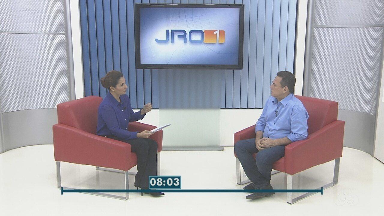 Maurão de Carvalho, candidato ao governo de RO, é entrevistado no Jornal de Rondônia