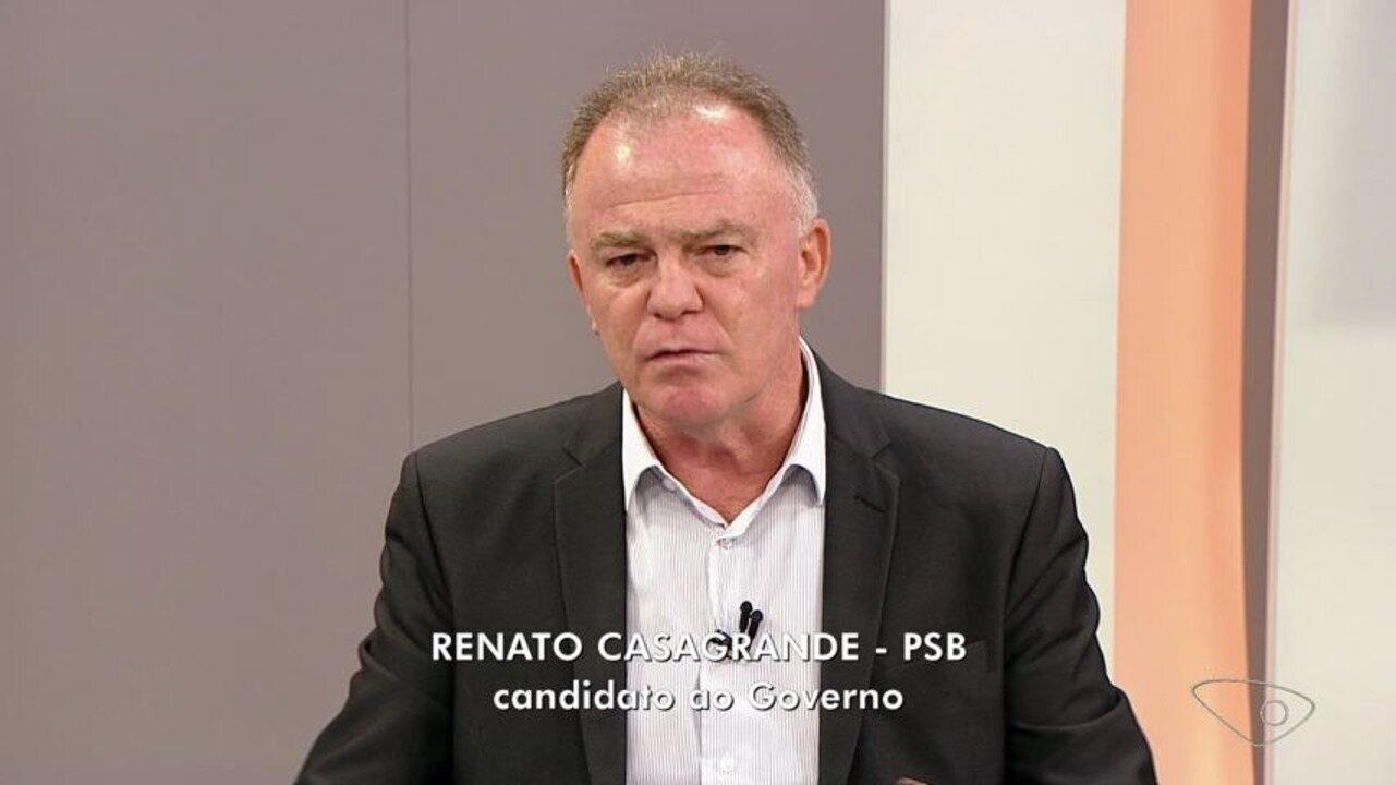 ESTV 1ª Edição entrevista Renato Casagrande