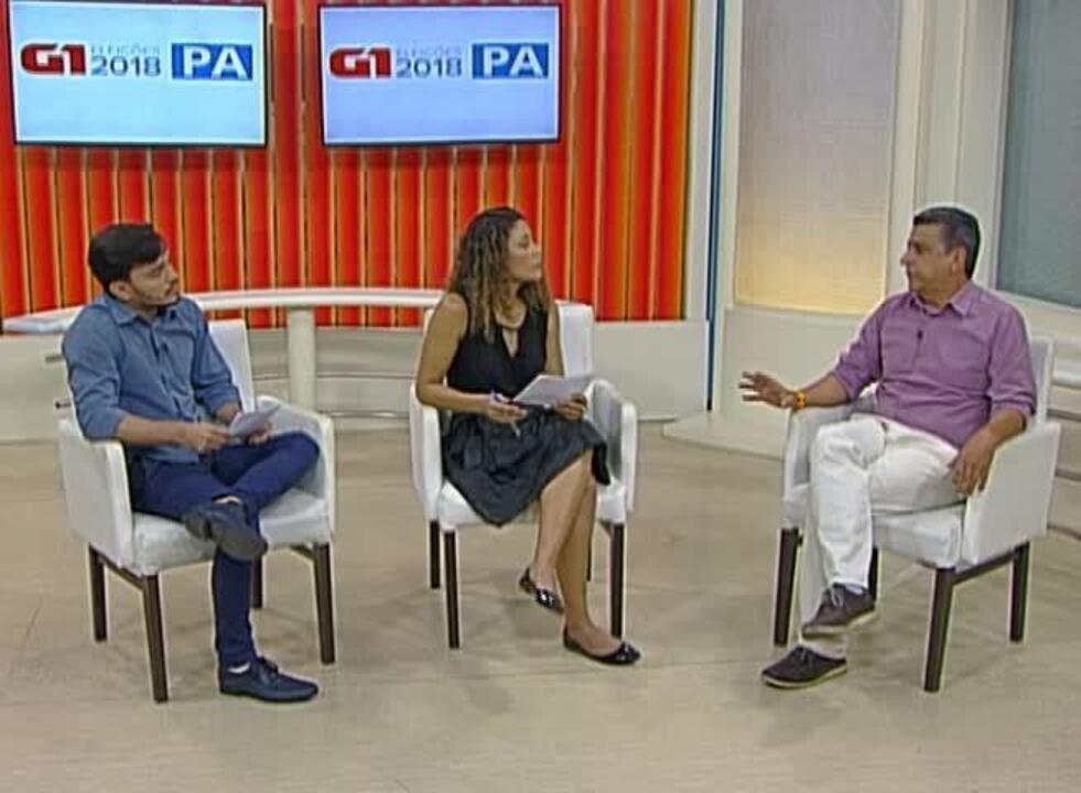 Veja a entrevista que o candidato ao governo Fernando Carneiro deu ao G1 Pará