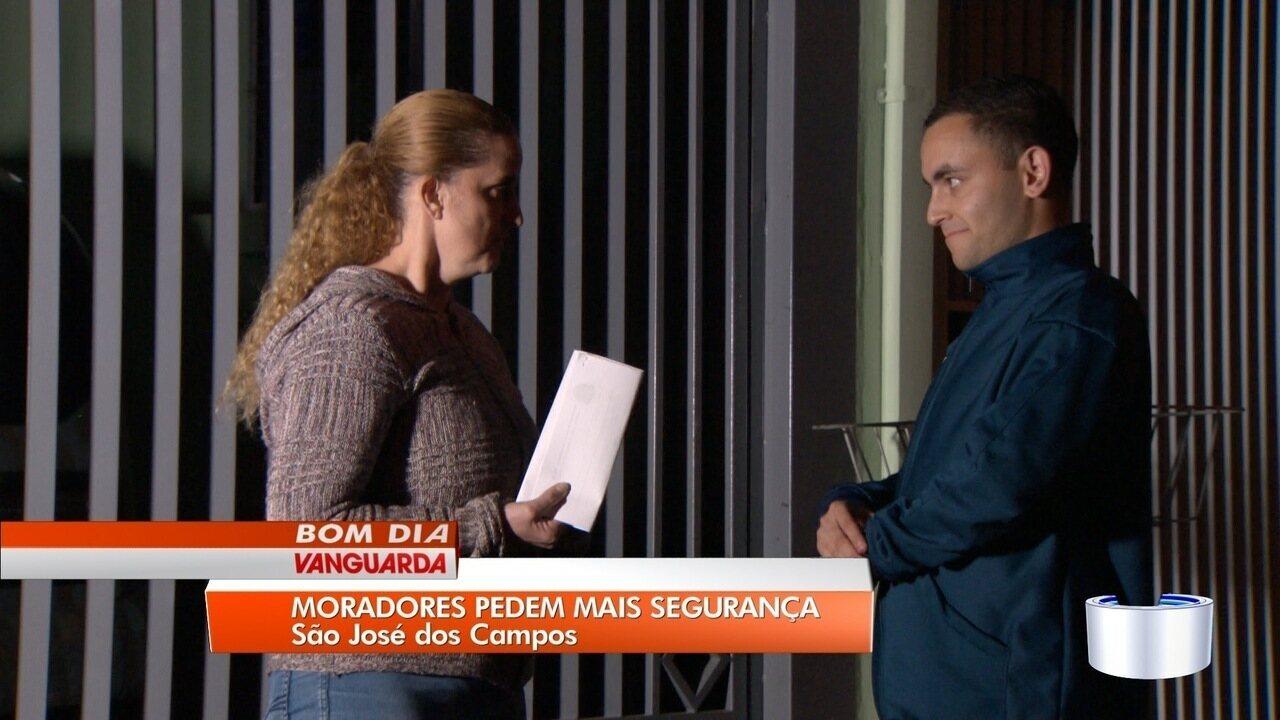 Moradores cobram mais segurança na zona sul de São José