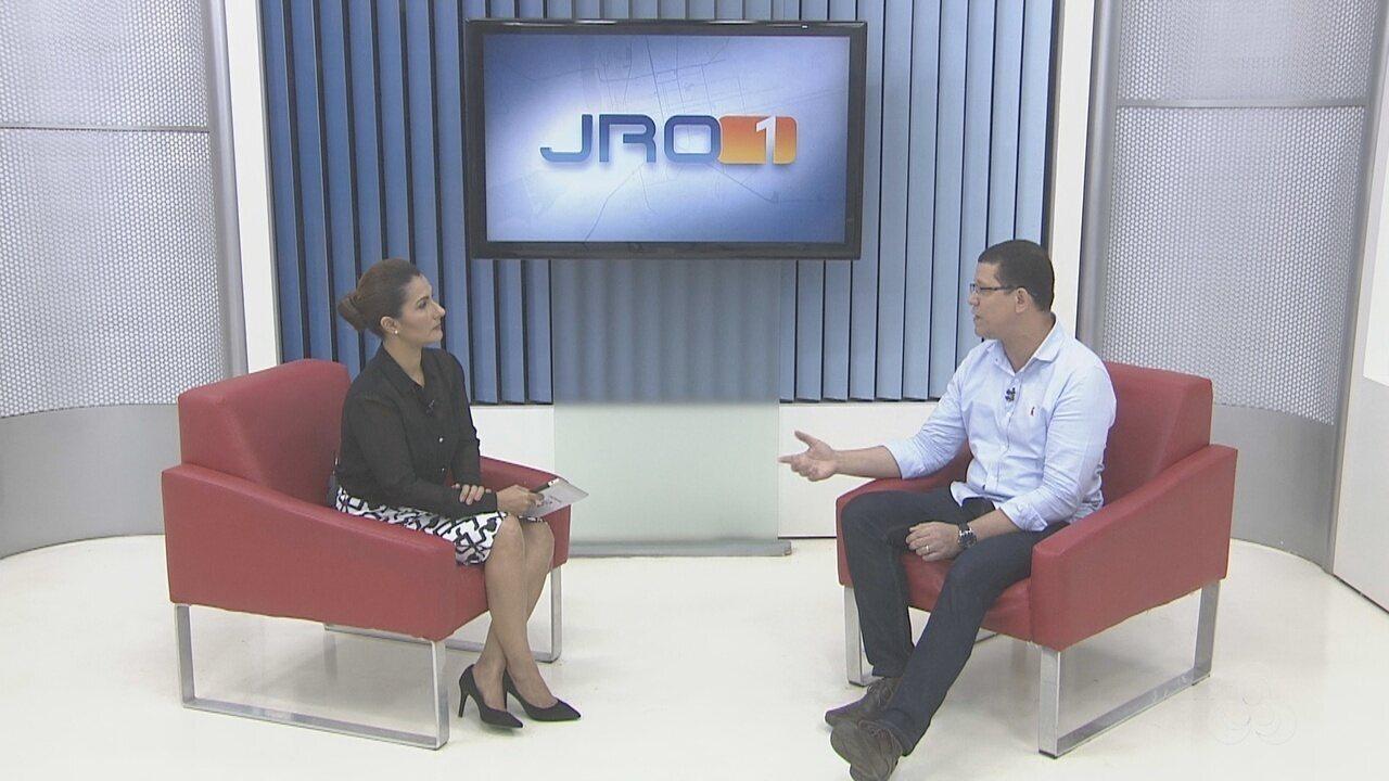 Coronel Marcos Rocha, candidato ao governo de RO, é entrevistado no Jornal de Rondônia