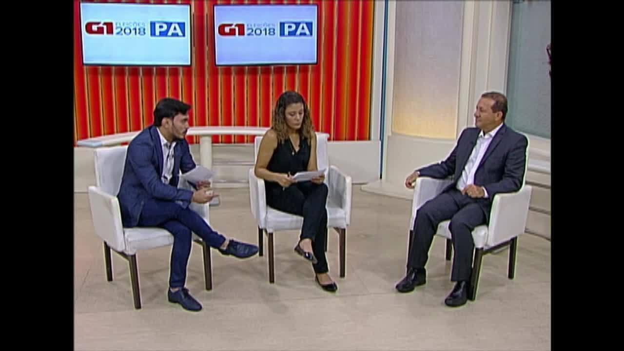 Veja a entrevista que o candidato Márcio Miranda deu ao G1 Pará