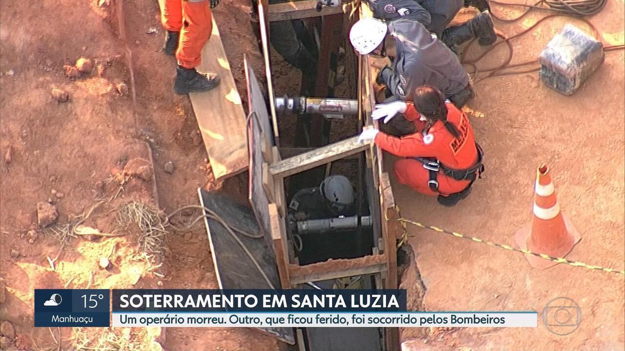 Homem morre após ser soterrado em obra, em Santa Luiza, na Grande BH