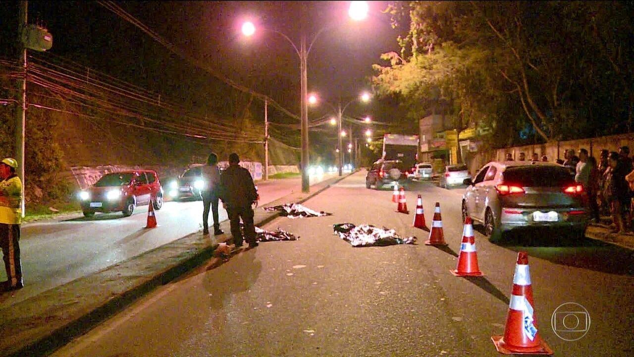 Avó e netos morrem atropelados em Sulacap, na Zona Oeste do Rio
