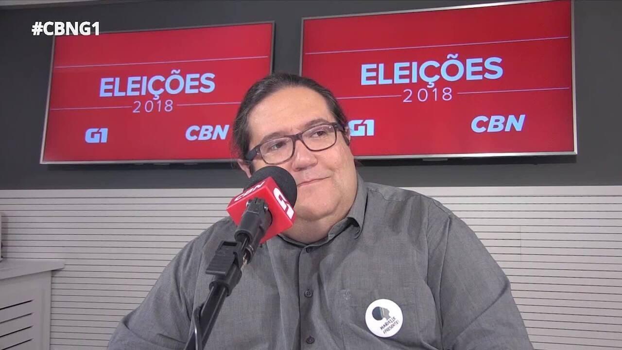 Tarcísio Motta (PSOL) é entrevistado pelo G1 e pela CBN