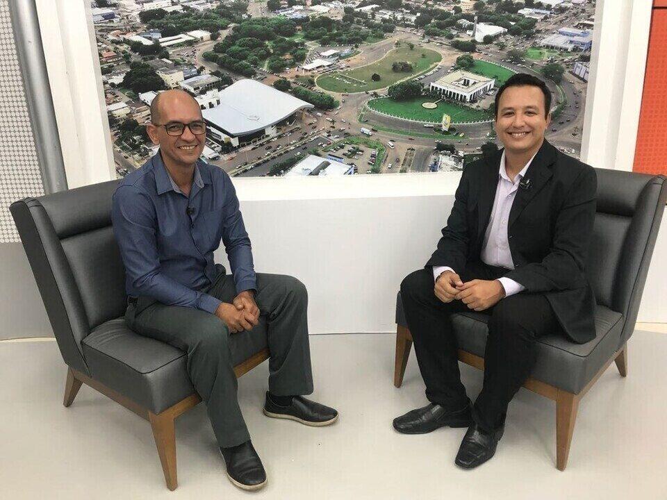 Candidato Fábio Almeida é entrevistado no Jornal de Roraima - 1ª Edição
