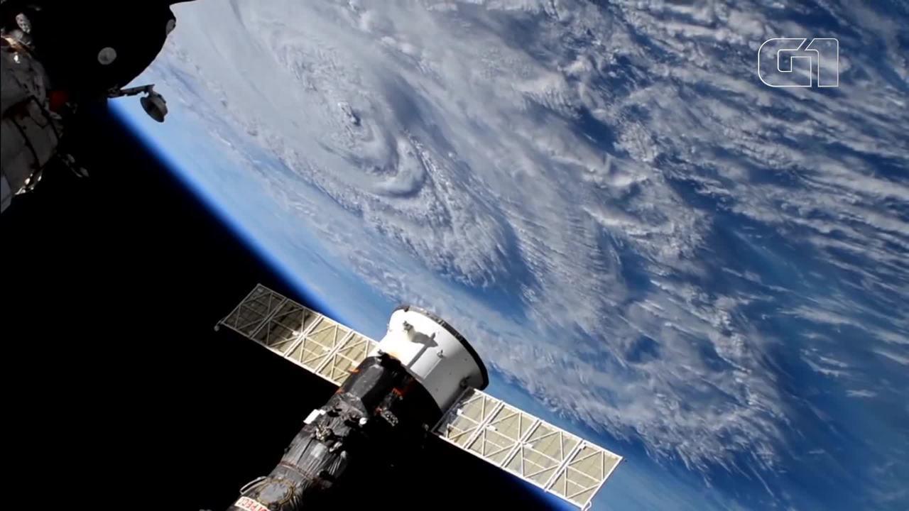 Nasa mostra força do furacão Florence em vídeo feito na Estação Espacial Internacional