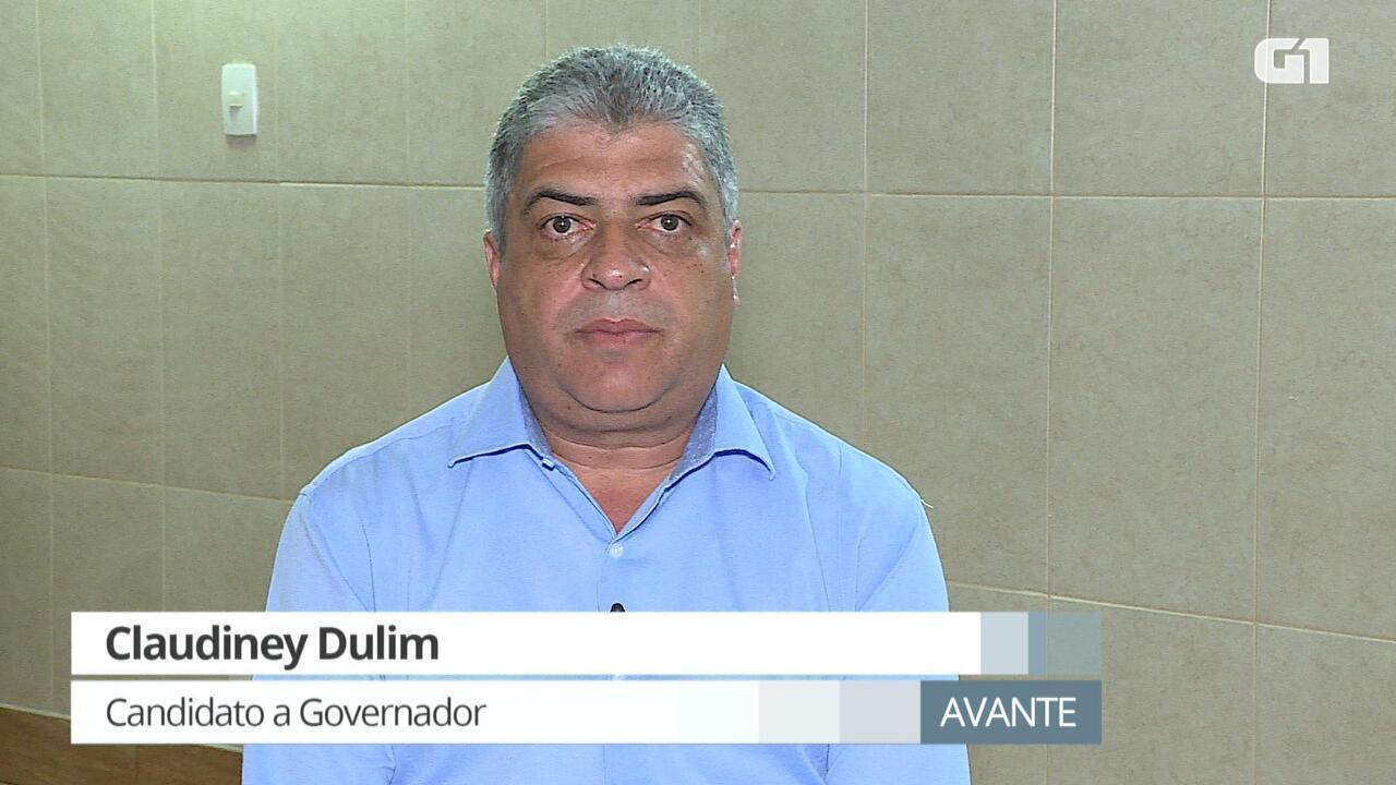 G1 entrevista Claudinei Dulim, candidato ao governo de Minas pelo Avante