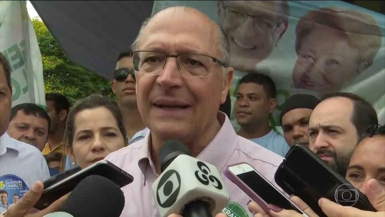 Geraldo Alckmin faz campanha em Rio Branco neste sábado (15)