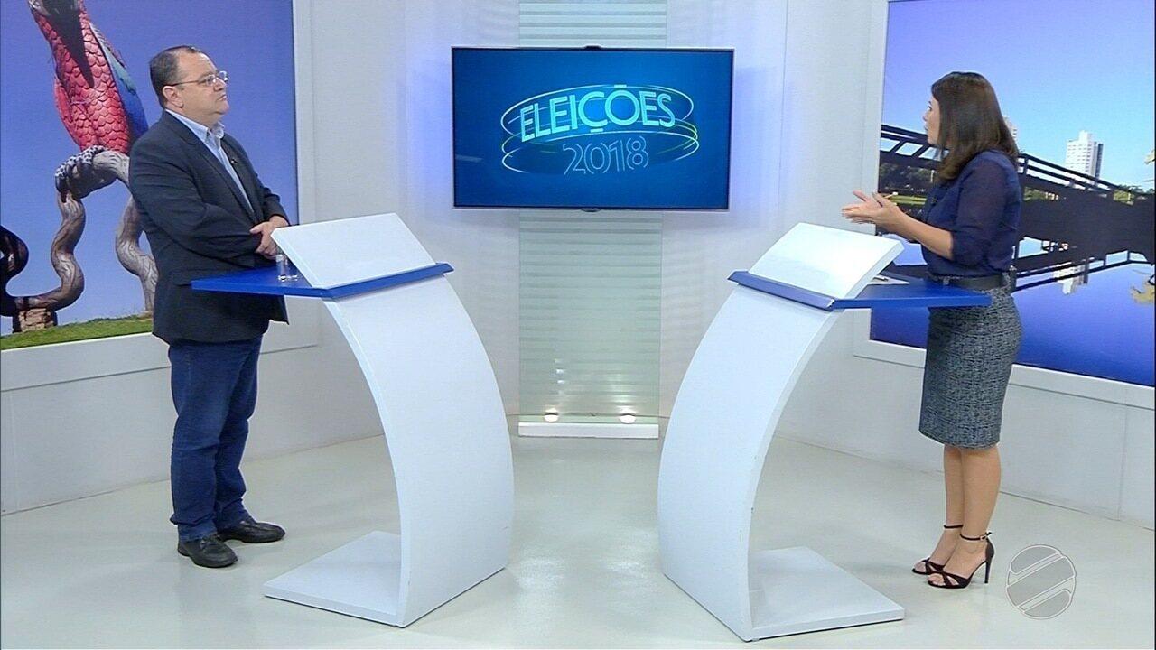 Confira a entrevista ao MS1 do candidato ao governo de MS, João Alfredo