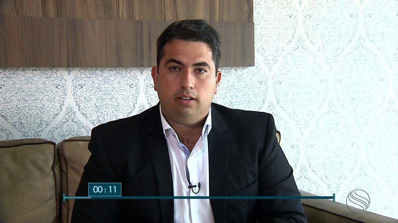 Milton Andrade, candidato ao governo de SE, é entrevistada no SETV1ª Edição