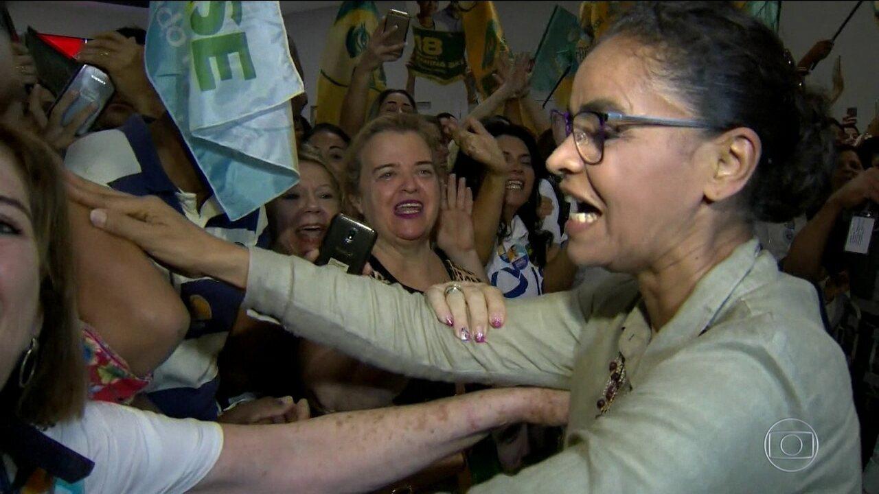 Marina Silva, candidata da Rede à Presidência, faz campanha no Espírito Santo