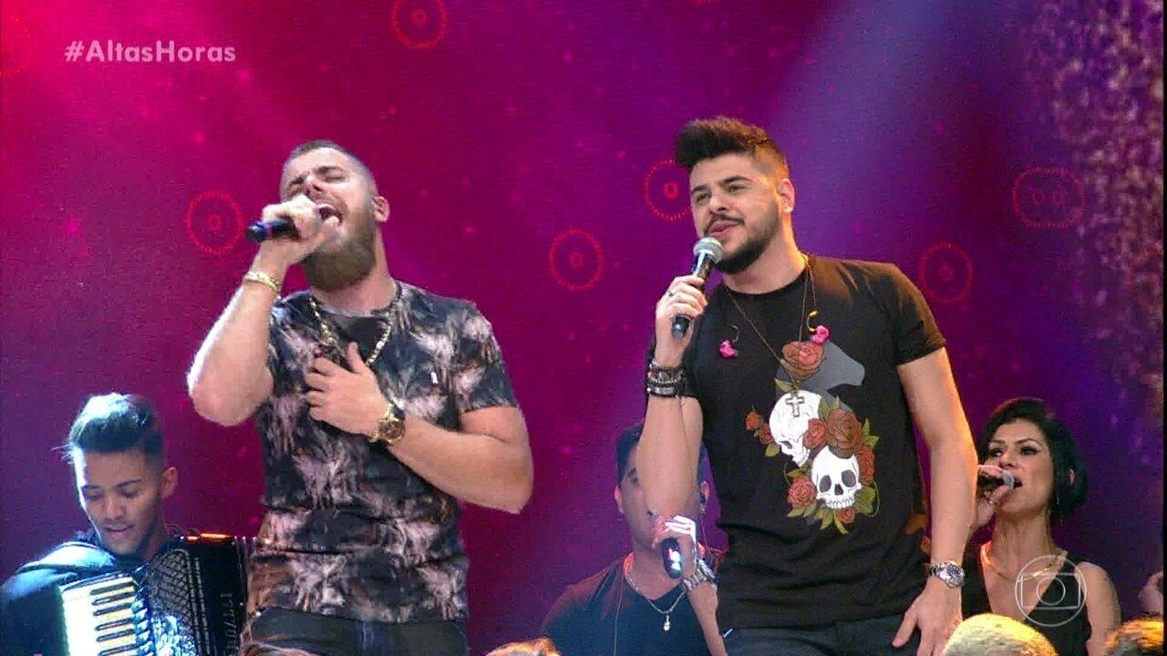 """Zé Neto e Cristiano abrem programa com """"Seu Polícia"""""""
