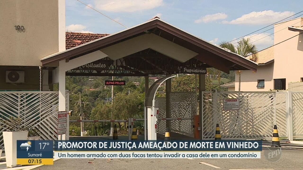 Promotor de Justiça sofre ameaça de morte em Vinhedo