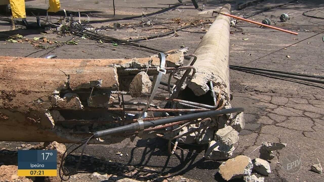 Temporal derruba árvores e mais de 40 postes em Indaiatuba
