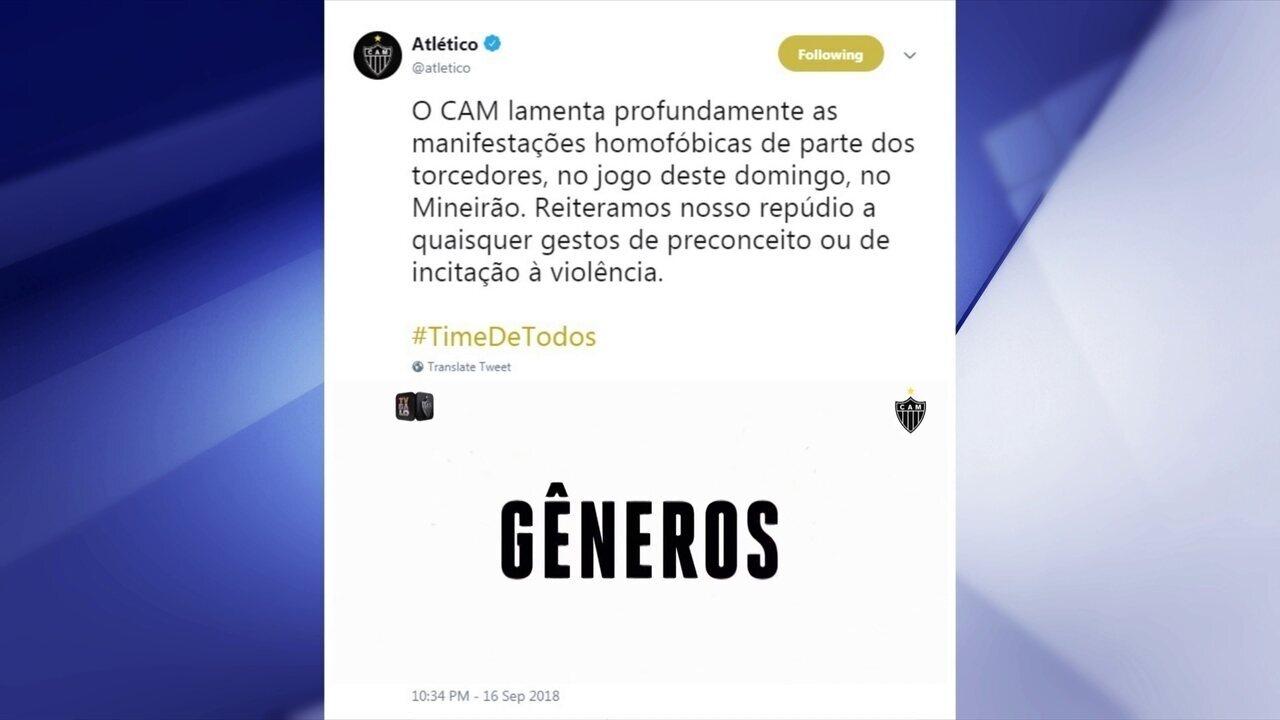 Comentaristas condenam gritos homofóbicos da torcida do Atlético-MG