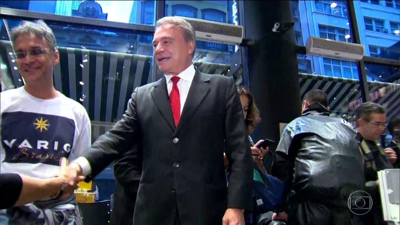 Candidato do Podemos, Alvaro Dias, faz campanha no Rio de Janeiro e em São Paulo
