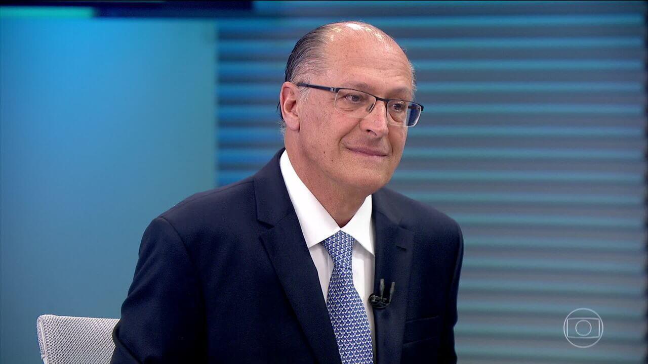 Geraldo Alckmin (PSDB) é entrevistado no Jornal da Globo