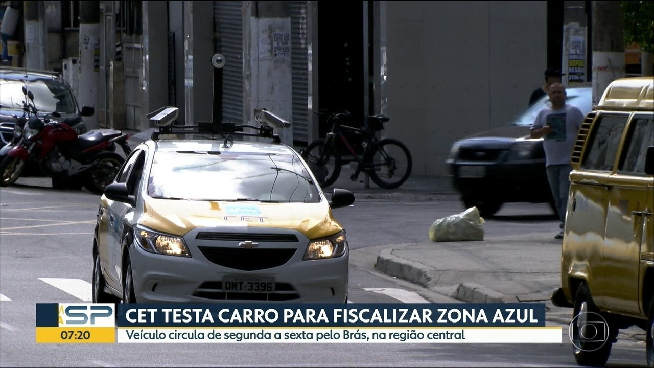 CET testa carro para fiscalizar Zona Azul