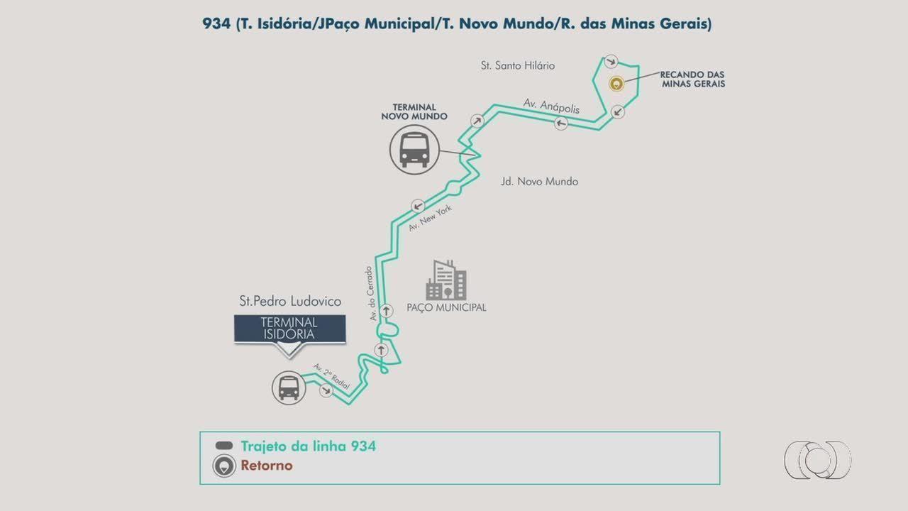 Nova linha de ônibus começa operar entre o T. Isidória e o Setor Recanto das Minas Gerais