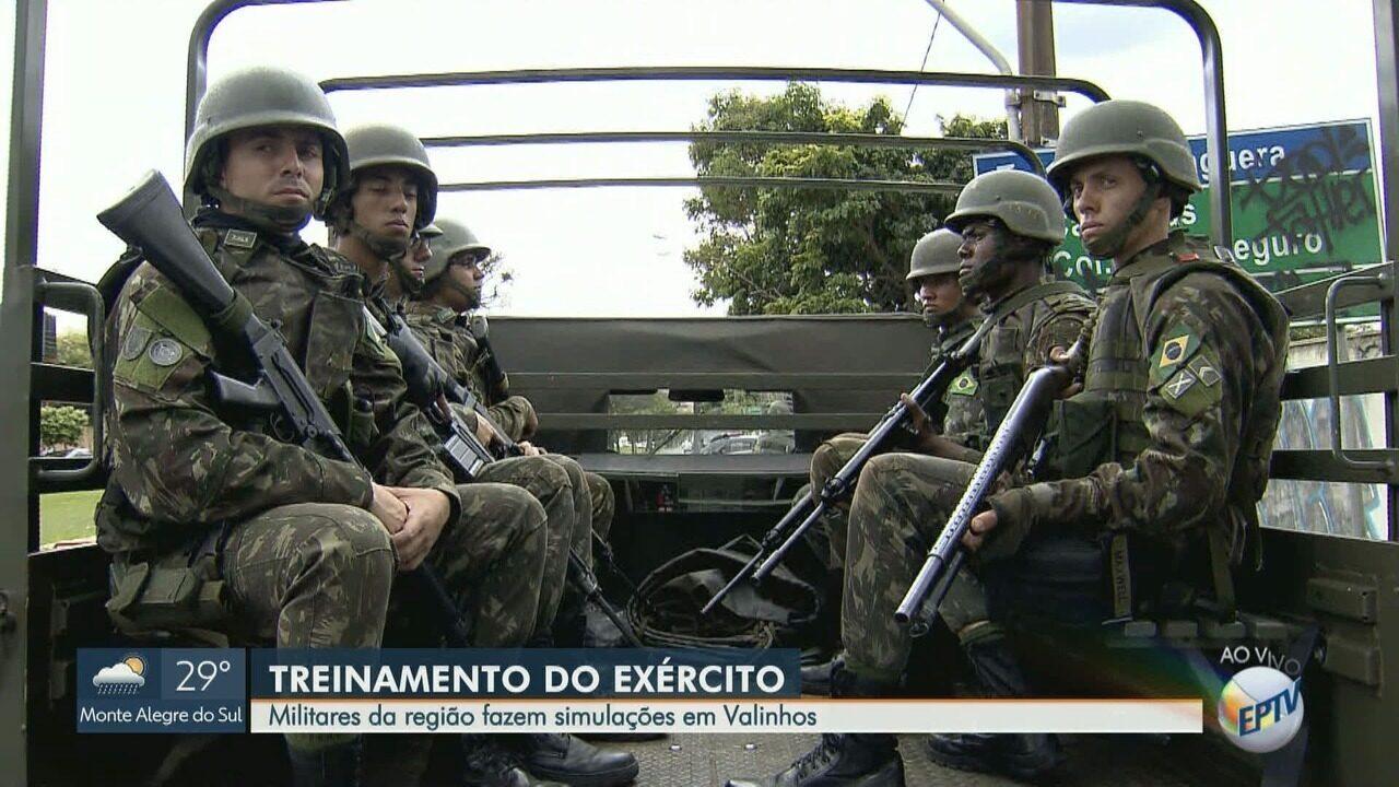 Militares da região fazem simulações durante treinamento em Valinhos