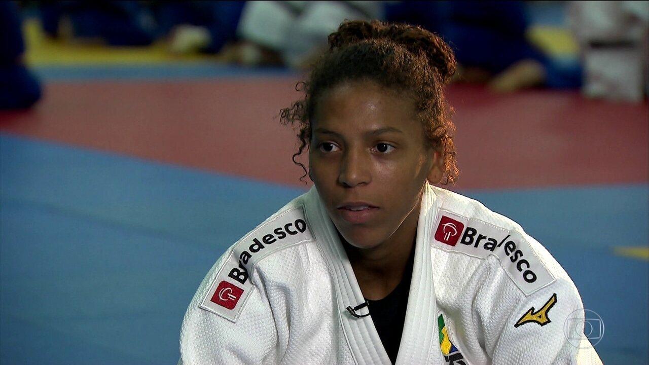 Rafaela Silva é uma das representantes brasileiras no mundial de judô do Azerbaijão