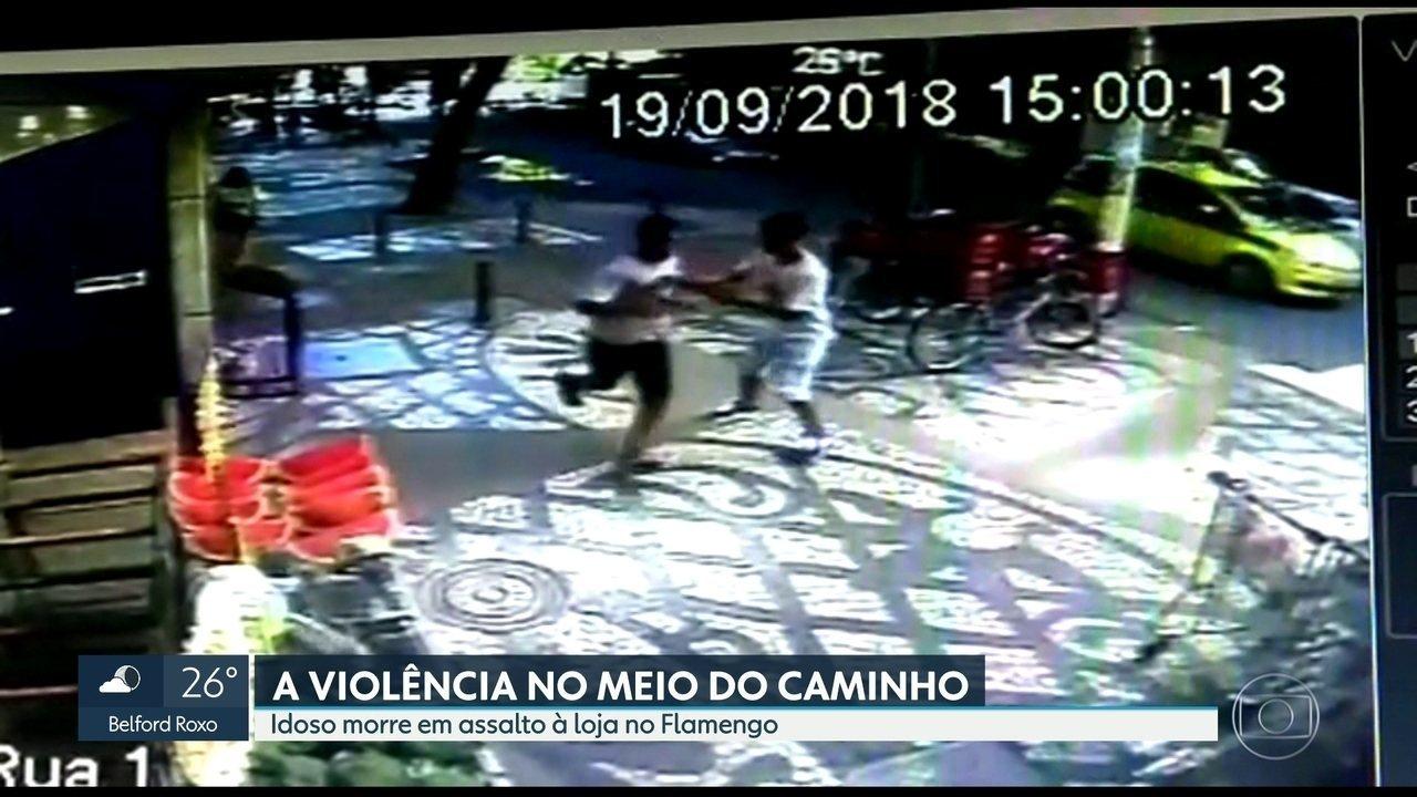 Idoso morre em assalto às Lojas Americanas, no Flamengo