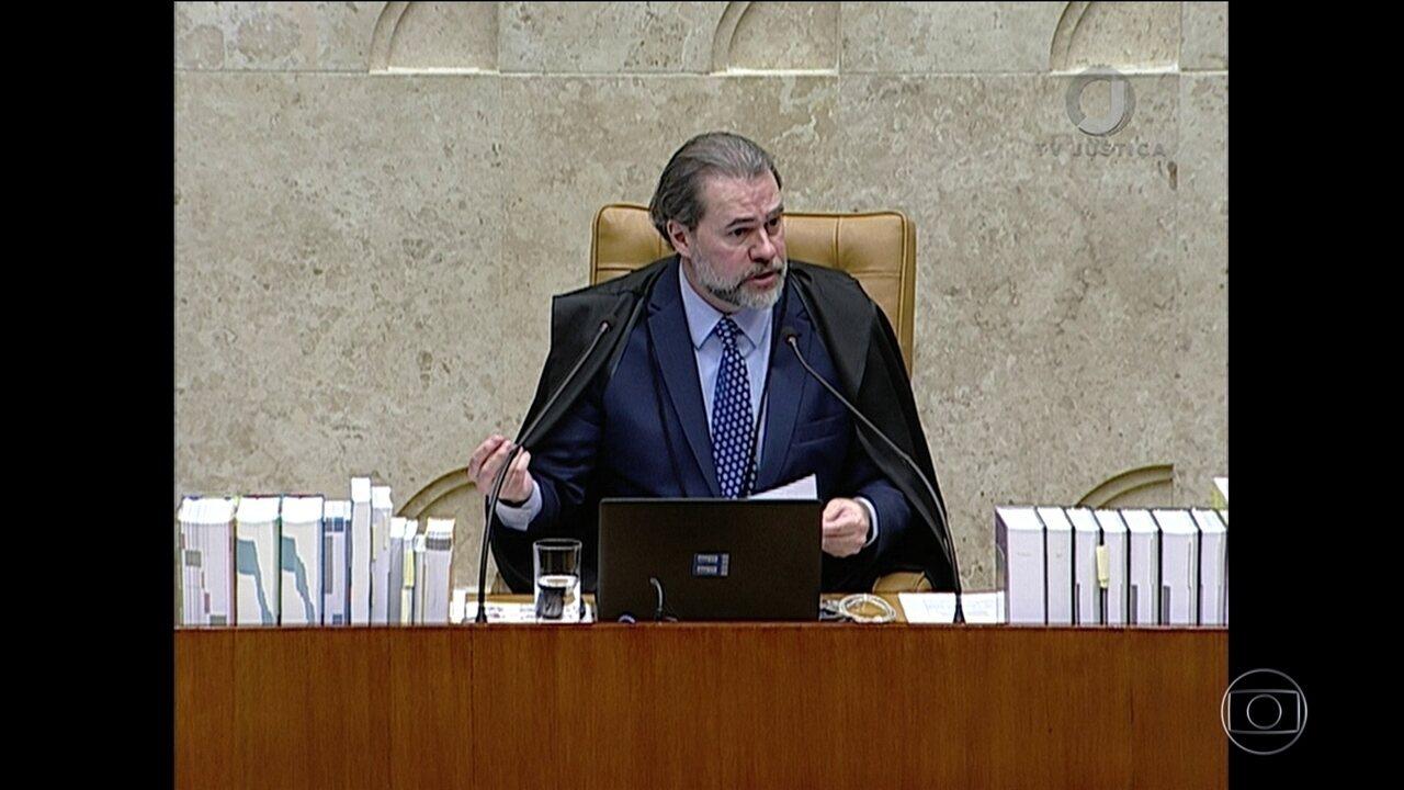 Toffoli comanda primeira sessão plenária como novo presidente do Supremo