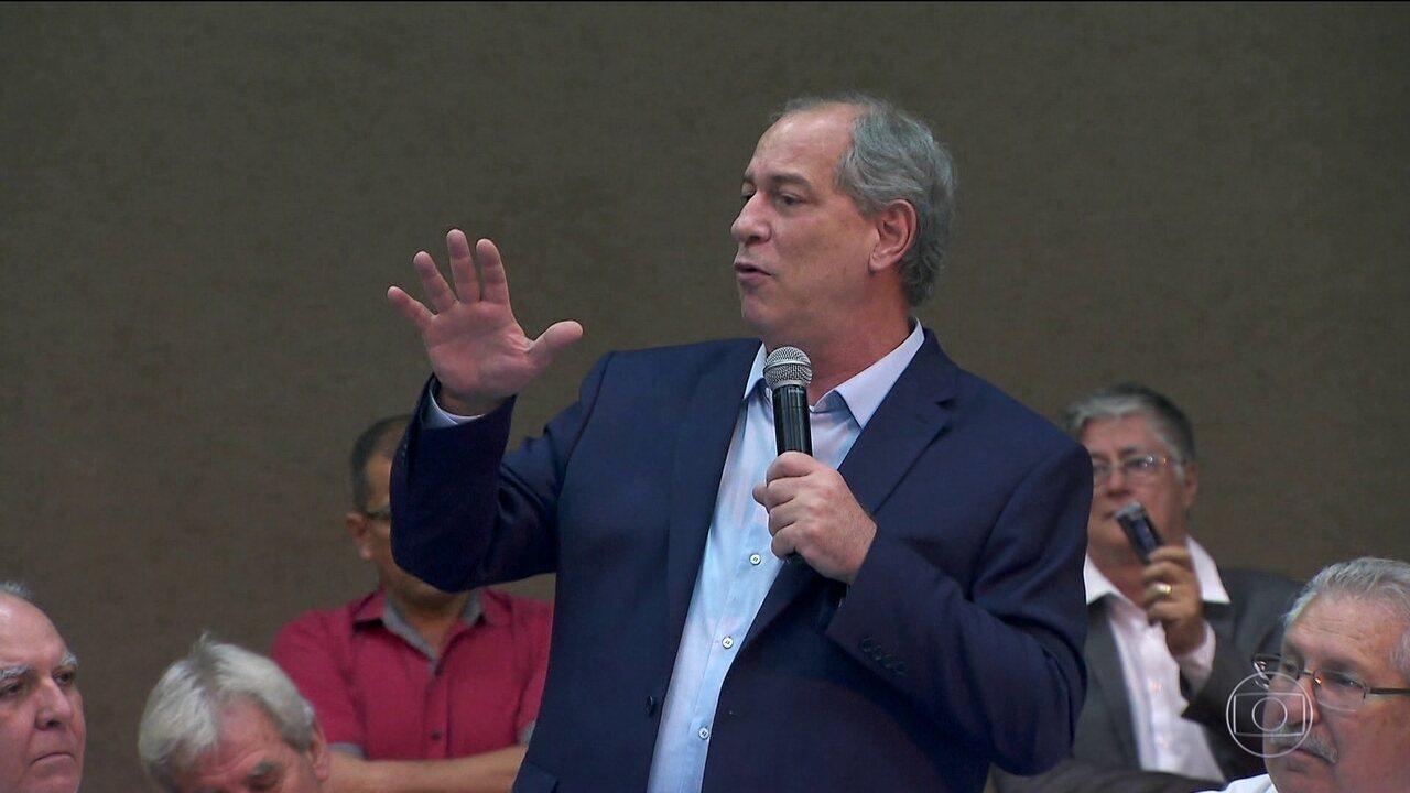 Candidato do PDT, Ciro Gomes, faz campanha em São Paulo