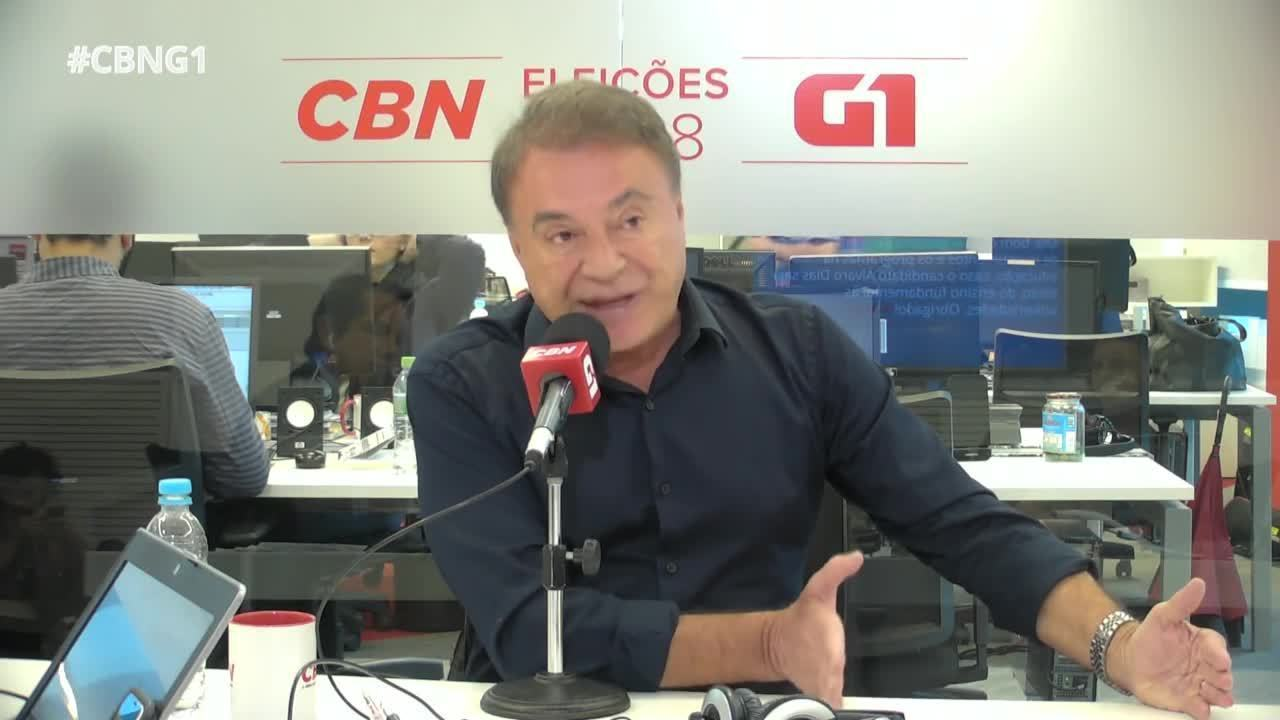 Alvaro Dias (Podemos) é entrevistado pelo G1 e pela CBN