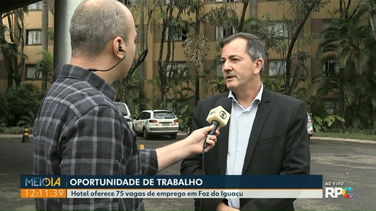 Hotel oferece 75 vagas de emprego em Foz do Iguaçu